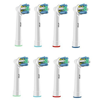 VeniCare Replacement Brush Heads Compatible with Oral-B Electric Toothbrush - Model EB-25A Floss Action Works with all Oral B Brush Handles (except for Sonic models) , Cleanest, Sparkling Teeth (8)