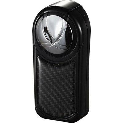 Visol Dobrev III Triple Jet Flame Black Carbon Fiber Cigar Lighter (Set of 3)