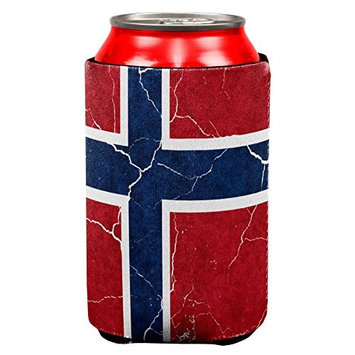 Old Glory Distressed Norwegian Flag All Over Can Cooler