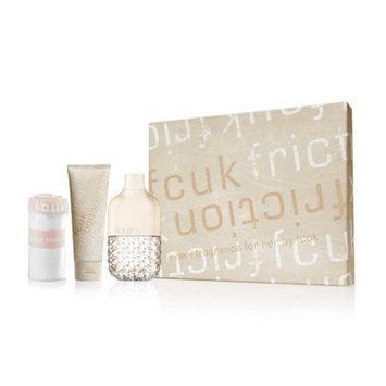 French Connection United Kingdom Fcuk Friction 3 Pieces Gift Set for Women (Eau De Parfum Spray, Body Lotion, Underwear)