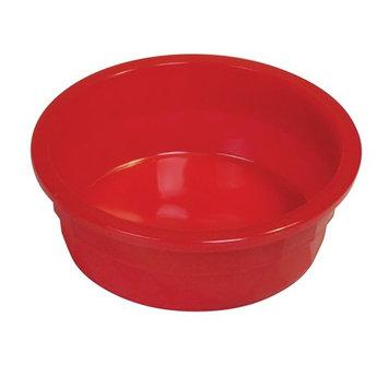 Van Ness Heavyweight Translucent Crock Dish Dog Bowl, Large, 52 Oz, Red