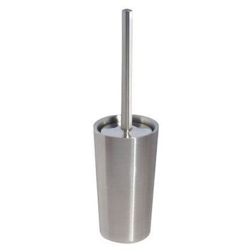 InterDesign Forma Ultra Toilet Bowl Brush and Holder - Bathroom Cleaning Storage, Brushed Stainless Steel [Bowl Brush XL]