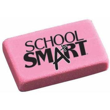 School Smart Pink Block Eraser - 1-1/8 x 15/16 x 3/8, BX/60