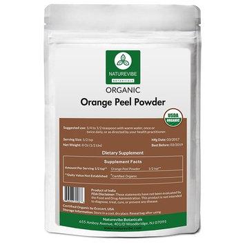 Naturevibe Botanicals Orange Peel Powder (8 Oz) | Citrus sinensis L. | Food Spice | Promotes Anti-Ageing & Skin Health