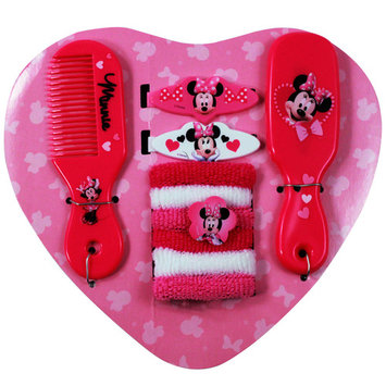 Disney Heart Backpack with a Comb, Mirror, Barrettes & Terry Ponies Accessories [character: character-disneyminniemouse]