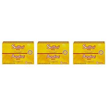 [ VALUE PACK OF 3] Grisi Sulfur Soap with Lanolin, 4.4 oz H treatment of acne: Beauty