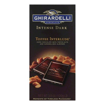 Ghirardelli Bar Toffee Interlude, 3.5 OZ (Pack of 12)