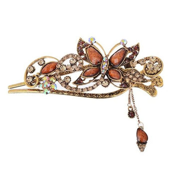Fashion Vintage Jewelry Crystal Butterfly Hair Clips Hairpins Hair Accessories