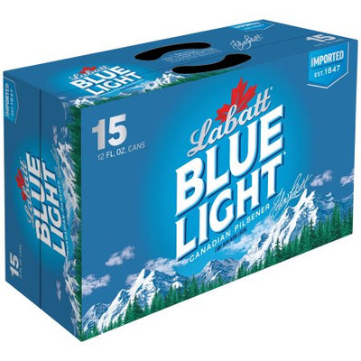 Labatt Blue Light Canadian Pilsener 15â 12 fl. oz. Cans