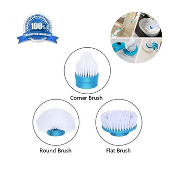 Electric Spin Scrubber Bathtub and tile bathroom scrubbers 3 Head Sets for Multi-Purpose Uses(floor wall bathroom and kitchen)Easy Way to Scrub ( Spin Scrubber Replacement Heads)