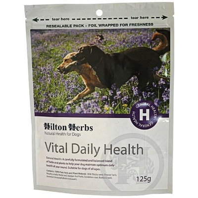Hilton Herbs Vital Daily Pure Herbal Supplement for Dogs, 4.4-Ounce Bag