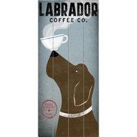 Artehouse LLC Labrador Coffee Graphic Art Multi-Piece Image on Wood