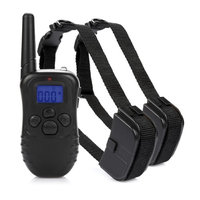 Besmall 300 Meters(328 yards/984 ft) Remote Dog Training Shock Collar, Vibration and Shock Pet Dog Training Collar for 2 Dogs