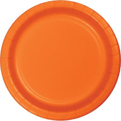 Club Pack of 192 Sunkissed Orange Disposable Paper Party Luncheon Plates 7