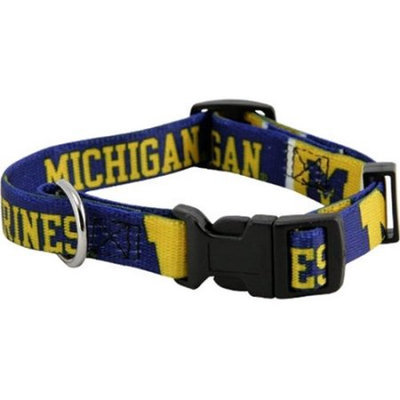 Doggie Nation.com NCAA Michigan Wolverines Dog Collar Medium