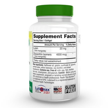 Lutein 20mg 60 Mini Softgels Soy-Free NON-GMO (as Lutemax® 2020)