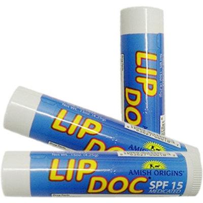 Amish Origins- Lip Doc Natural Healing Lip Balm with SPF 15, (0.15 oz)