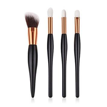 4Pcs Makeup Cosmetic Tool Eyeshadow Blush Concealer Powder Foundation Blending Brush Set Women Beauty Toiletry Tool