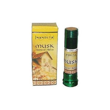 Musk - Nandita Incense Oil/Roll On - 1/4 Ounce Bottle