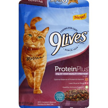 9Lives Protein Plus Dry Cat Food, 12 Lb