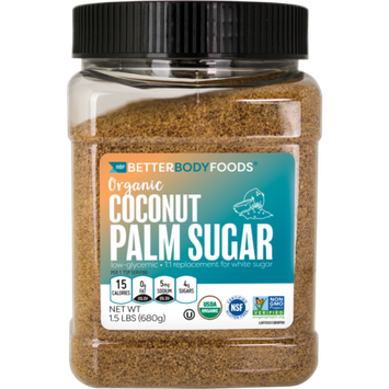 BetterBody Foods Organic Coconut Sugar â A Naturally Low-Glycemic Sweetener and Sugar Alternative, Great Replacement for White Sugar or Refined Sugar, Non-GMO and Gluten Free Certified â 1.5lbs