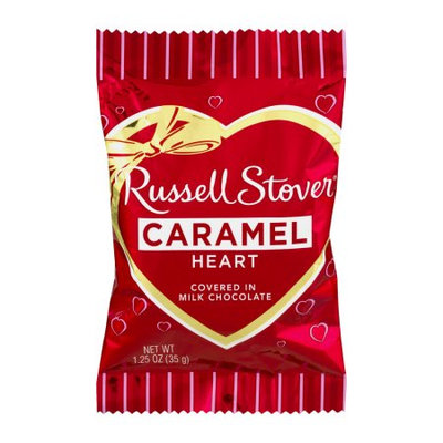 Russell Stover Candies, Inc. Russell Stover Caramel Heart in Milk Chocolate, 1.25 OZ
