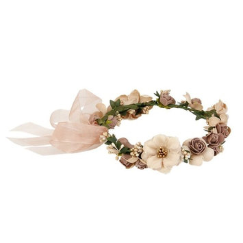 WINOMO Women Girls Flower Headbands Crown Wedding Bridal Hair Wreath Floral Headband Garland