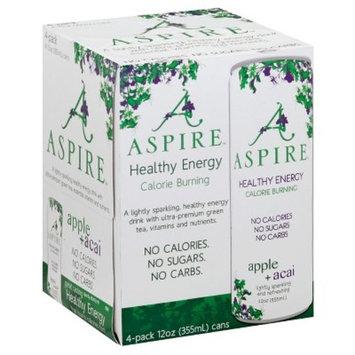 Aspire Healthy Energy Apple + Acai - 4pk/12 fl oz Cans