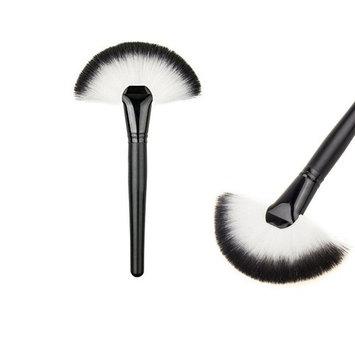 ZXUY (Brushes Make Up Tool) Professional Single Makeup Brush Blush/Powder Sector Makeup Brush Soft Fan Brush Foundation