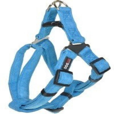 Dogline M8102-2 15-19 L x 0. 63 W inch Comfort Microfiber Step-In Harness, Blue