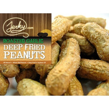Roasted Garlic Deep Fried Peanuts - World Famous - EAT THEM SHELL AND ALL! - 10 oz. bag [Roasted Garlic]