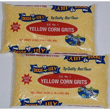 Dixie Lily Gluten-Free U.S. No. 1 Enriched Yellow Corn Grits 20-Ounce Bag (Pack of 2)