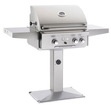 American Outdoor Grills 24 AOG Pedestal T Series Grill w/Burner, Rotisserie - NG