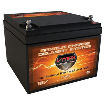 VMAX V28-800S 12V 28ah AGM Multipurpose Deep Cycle Battery upgrade for Sunnyway replaces 26ah 6.5