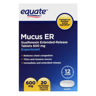 Equate Eq Mucus Extended Release 600mg Tablets