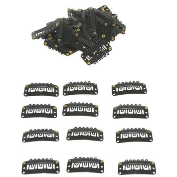 Geoot Snap Clips 50pcs U-shape Metal Clips for Hair Extensions DIY