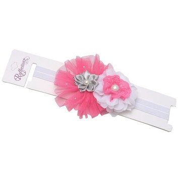 Reflectionz Girls Hot Pink Flower Pearl Center Stretch Hairband