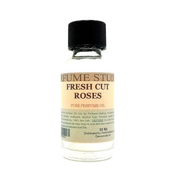 Fresh Cut Roses Perfume Oil for Perfume Making, Personal Body Oil, Soap, Candle Making & Incense; Splash-On Clear Glass Bottle, Undiluted & Alcohol Free