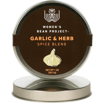 Women's Bean Project All-Natural Specialty Garlic & Herb Seasoning Blend, 2 Ounce Tin