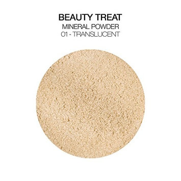 BEAUTY TREATS Mineral Powder Foundation 0.28oz with Brush and Mirror