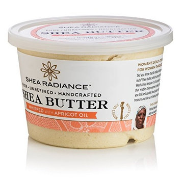 SHEA RADIANCE Whipped Shea Butter in Tub, 9.5 OZ [Whipped Large]