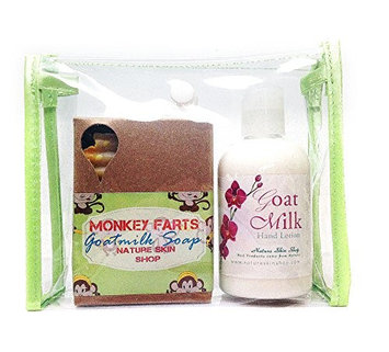 Nature Skin Shop Goat Milk Hand Lotion And Monkey Farts Soap Gift Set