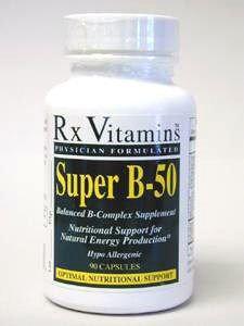 Rx Vitamin's Rx Vitamins, Super B-50 90 caps