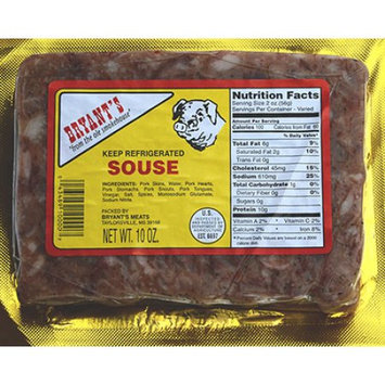 Bryant's Meats Inc. Bryant's Sliced Souse, 10 oz