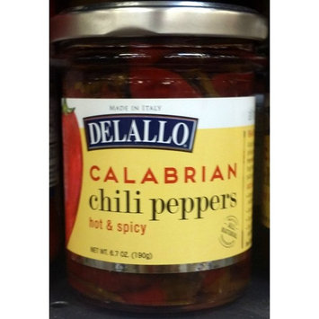 Delallo Calabrian Chili Peppers 6.7 oz (Pack of 2)