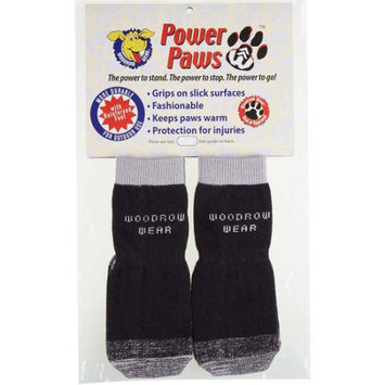 Woodrow Wear Power Paws Reinforced Foot Extra Extra Extra Large Black/Gray