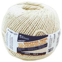 Wellington Puritan Twisted Baler Twine, NO 16 510 ft L, 2 lb, Cotton, Natural