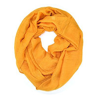 Solid Color Soft Infinity Loop Scarf with Glitter (G