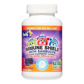 Teelah Yum V's Immune Shield Sambucus with Rose Hips Extract Jellies, 120 Ct