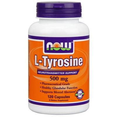 NOW Foods Tyrosine Capsules 500 Mg, 120 Ct